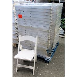 Qty Approx. 66 White Resin Folding Chairs