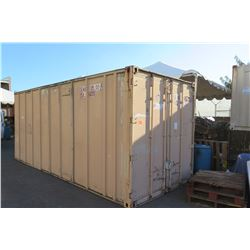Tan Shipping Container 20-Foot (pick up Monday or Tuesday)