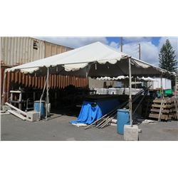 White Party Tent w/ Canvas, Poles & Hardware 30' x 30'
