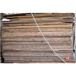 Qty Approx. 90 Wooden Plywood Sheets