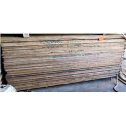 Qty Approx. 50 Wooden Plywood Sheets