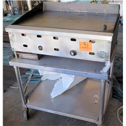 U.S. Range Gas Griddle on 2-Tier Rolling Base