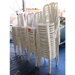 Qty 60 Plastic Stackable Chairs