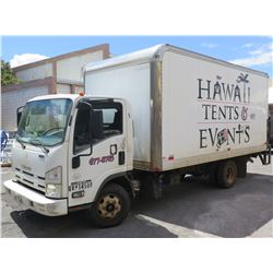2011 ISUZU NPR HD Diesel 16ft Cargo Box Truck Lic 104-TTW GVW 14,500# 96439 Miles (Runs, Drives-See