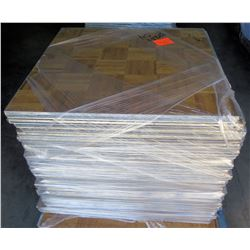 "Qty Approx. 34 Pressed Wood Floor Sections w/ Interlocking Metal Frame 36""x36"""