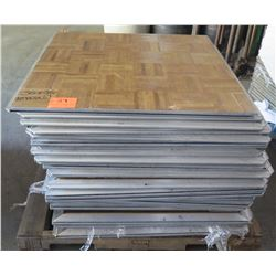 "Qty Approx. 24 Pressed Wood Floor Sections w/ Interlocking Metal Frame 36""x36"""