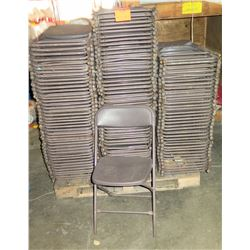 Pallet Metal & Hard Plastic Folding Chairs