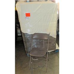 Qty 140 Metal & Hard Plastic Folding Chairs
