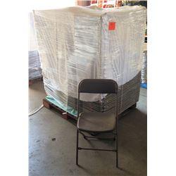 Qty 150 Metal & Hard Plastic Folding Chairs