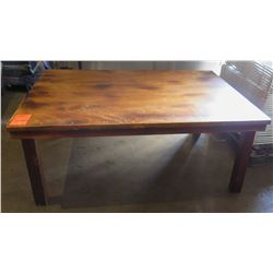 """Qty 7 Wooden Farm Tables 73""""x49""""x29"""""""