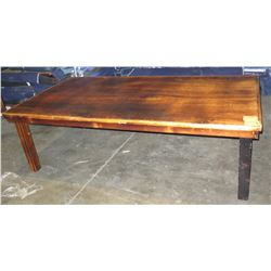 "Qty 20 Wooden Farm Tables 97""x49""x29"" (only has enough legs for 16 tables)"