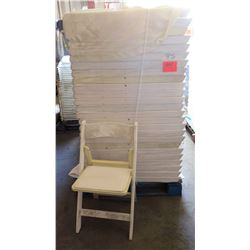 Qty Approx. 75 White Wooden Folding Chairs