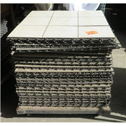 "36"" x 36"" Interlocking Floor Sections w/Rolling Cart"