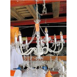 Candle-Style Beaded Chandelier Light Fixture