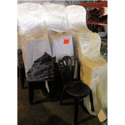 Qty 135 White Plastic Stackable Chairs