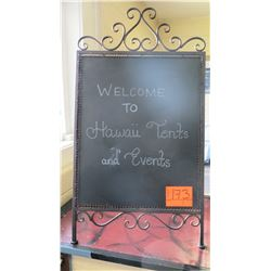 Folding Metal Framed Decorative Sign Board