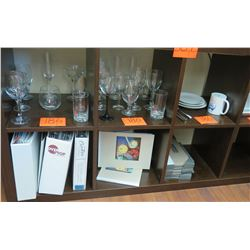 Misc Barware & Wine Glasses, Ceramic Plates & Binders