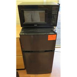 Mini Black Top Freezer Refrigerator & Kenmore Microwave Oven