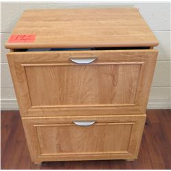Wooden Lateral 2-Drawer File Cabinet