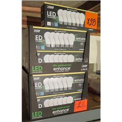 Qty 28 Feit Electric LED Dimmable 60W Replacement Bulbs 6-Packs