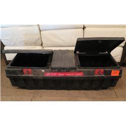 Hard Plastic Truck Tool Box w/ Green Twinkle Lights & GE Mini-Lights