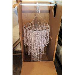 "Shop Wild Things White Beaded Chandelier D28.7""x 20.8"" in Box"