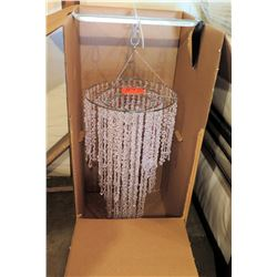"Shop Wild Things White Beaded Chandelier D28.7"" x 20.8"" in Box"