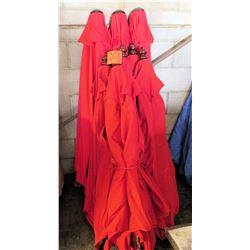 Qty 9 Red Umbrellas