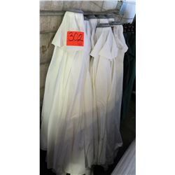Qty 8 Off-White Umbrellas