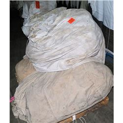 Contents of Pallet: Misc. Tent Canopies