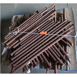 Contents of Pallet: Rebar Tent Stakes