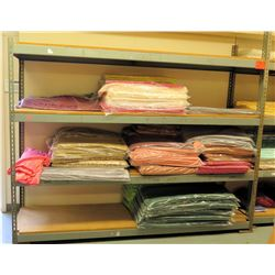 Industrial Shelving with Cleaned Tablecloths