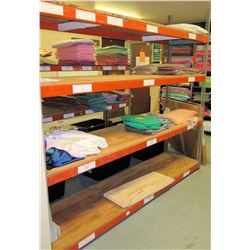 Industrial Shelving Unit with Cleaned Tablecloths