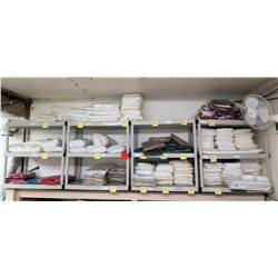 Multiple Shelving Units with Contents: Tent Swag (Various Sizes)