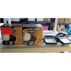 Qty 2 Strobe Lights & Utilitech Lights