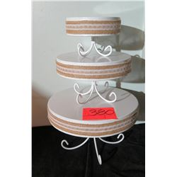 Qty 3 Decorative Cake Stands