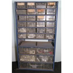 Storage Organizer with Misc. Hardware, Clips, Replacement Zippers, etc