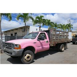 2000 Ford F450 Super Duty 14ft Stakebed Truck, 177,234 Miles, Lic. 539TSP (Runs & Drives, See Video)
