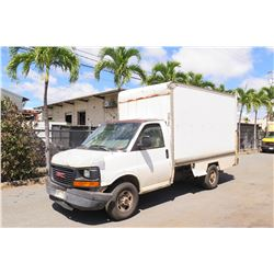 2004 GMC 14ft Box Truck 209,474 Miles, Lic. 574TTD (Runs & Drives, See Video), Lift Gate Inoperable