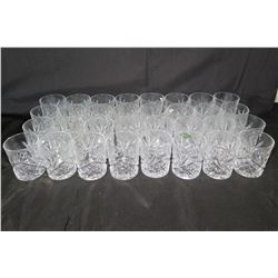 Qty 32 Old Fashioned Highball Glasses