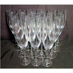 Qty 18 Krosno Cellar Stemmed Champagne Flutes Glasses