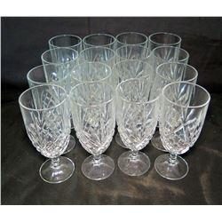 Qty 17 Stemmed Beverage Glasses
