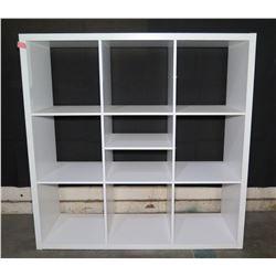 "White 10 Compartment Shelving Unit 44""x14""x44""H"