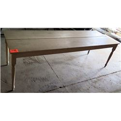 "Long Wooden Table w/ Center Seam 96""x32""x29""H"