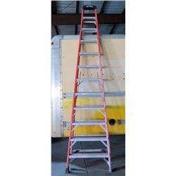 Werner Red Aluminum Extension Ladder