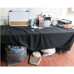 Misc Office Supplies: Fan, Corkboard, Organizers, Expanding Files, etc