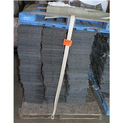 "Pallet 12"" x 12"" Rubber Sub Flooring Sections, Approx. 480 pcs"