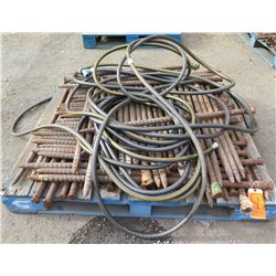 Pallet Multiple Rebar Tent Stakes & Hoses