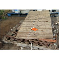 Pallet Tent Stakes, Plywood Sections, Hardware, etc