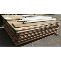Qty 26 Plywood Sheets & Misc Poles